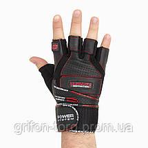 Перчатки для тяжелой атлетики Power System Ultimate Motivation PS-2810 S Black/Red, фото 2