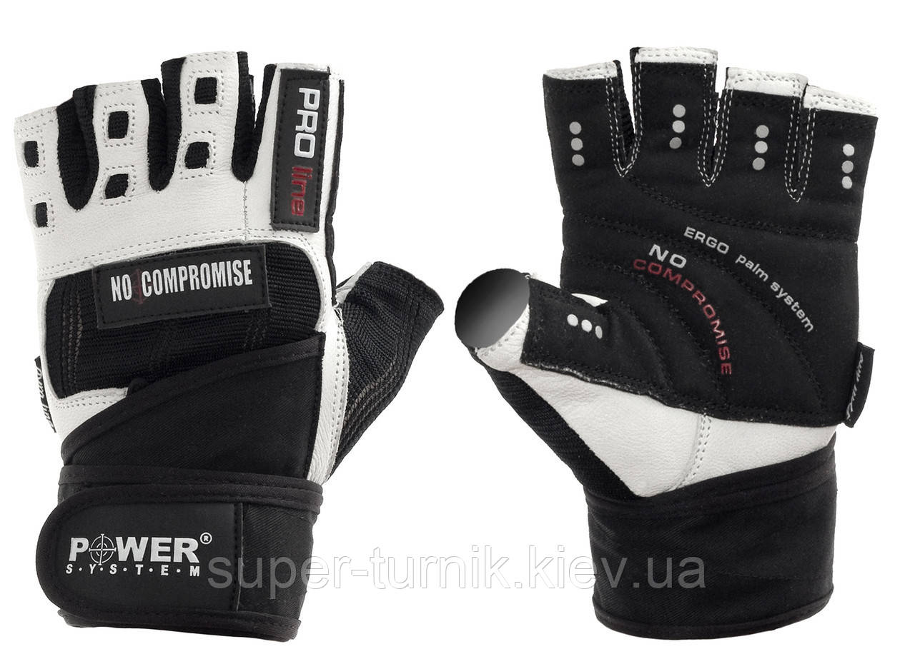Перчатки для фитнеса и тяжелой атлетики Power System No Compromise PS-2700 S Black/White