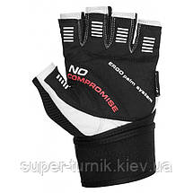 Перчатки для фитнеса и тяжелой атлетики Power System No Compromise PS-2700 S Black/White, фото 2