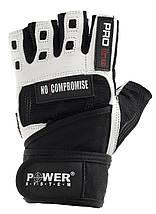 Перчатки для фитнеса и тяжелой атлетики Power System No Compromise PS-2700 S Black/White, фото 3