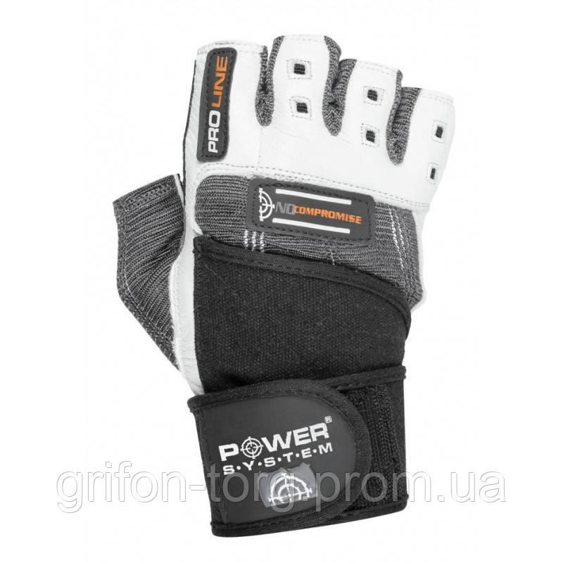 Перчатки для фитнеса и тяжелой атлетики Power System No Compromise PS-2700 S Grey/White