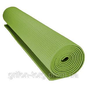 Килимок для йоги та фітнесу Power System PS-4014 FITNESS-YOGA MAT Green