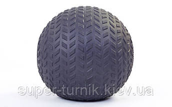Мяч SlamBall для кросфита и фитнеса Power System PS-4116 10кг рифленый, фото 2