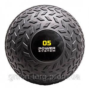 М'яч SlamBall для кросфита і фітнесу Power System PS-4115 5кг рифлений