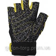 Перчатки для фитнеса и тяжелой атлетики Power System Classy Женские PS-2910 S Black/Yellow, фото 2