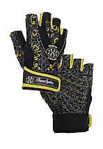 Перчатки для фитнеса и тяжелой атлетики Power System Classy Женские PS-2910 S Black/Yellow, фото 3