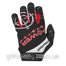 Перчатки для кроссфит с длинным пальцем Power System Cross Power PS-2860 M Black/Red, фото 3