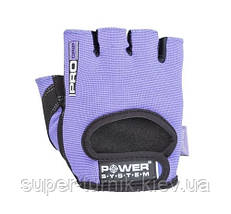 Перчатки для фитнеса и тяжелой атлетики Power System Pro Grip PS-2250 S Purple, фото 3