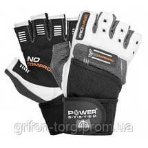 Перчатки для фитнеса и тяжелой атлетики Power System No Compromise PS-2700 XXL Grey/White, фото 2