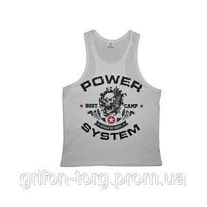 Майка для фітнесу та бодібілдингу Power System PS-8000 Boot Camp XXL White