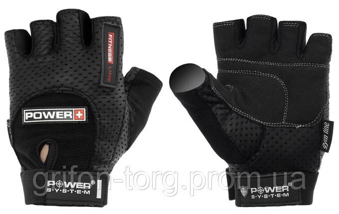 Перчатки для фитнеса и тяжелой атлетики Power System Power Plus PS-2500 L Black, фото 2