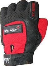 Перчатки для фитнеса и тяжелой атлетики Power System Power Plus PS-2500 L Black/Red, фото 3