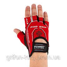 Перчатки для фитнеса и тяжелой атлетики Power System Pro Grip EVO PS-2250E XS Red, фото 2
