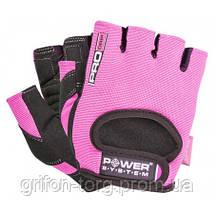 Перчатки для фитнеса и тяжелой атлетики Power System Pro Grip PS-2250 S Pink, фото 3