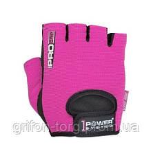 Перчатки для фитнеса и тяжелой атлетики Power System Pro Grip PS-2250 S Pink, фото 2