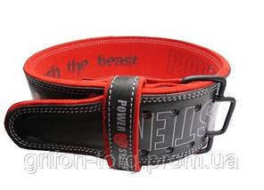 Пояс для тяжелой атлетики Power System Beast PS-3830 M Black/Red, фото 2