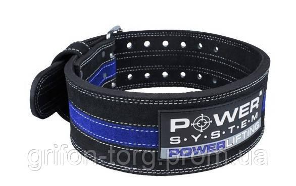 Пояс для пауэрлифтинга Power System Power Lifting PS-3800 L Black/Blue, фото 2