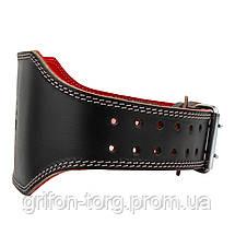 Пояс для тяжелой атлетики Power System Elite PS-3030 L Black/Red, фото 2