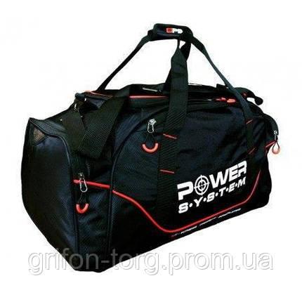 Сумка спортивная Power System PS-7010 Gym Bag Magna Blak/Red, фото 2