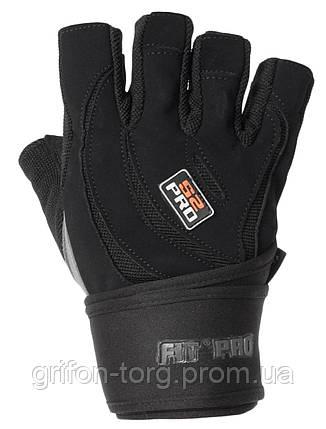 Перчатки для тяжелой атлетики Power System S2 Pro FP-04 XS Black, фото 2
