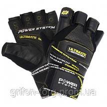 Перчатки для тяжелой атлетики Power System Ultimate Motivation PS-2810 L Black/Yellow, фото 2