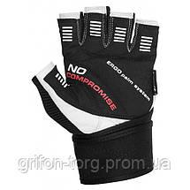 Перчатки для фитнеса и тяжелой атлетики Power System No Compromise PS-2700 M Grey/White, фото 2