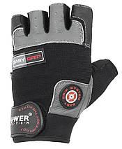 Перчатки для фитнеса и тяжелой атлетики Power System Easy Grip PS-2670 L Black/Grey, фото 2