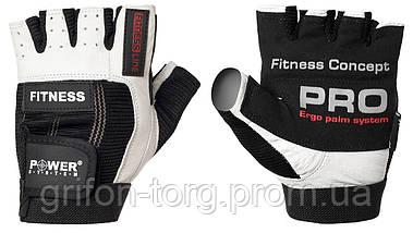 Перчатки для фитнеса и тяжелой атлетики Power System Fitness PS-2300 M Black/White, фото 3
