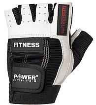 Перчатки для фитнеса и тяжелой атлетики Power System Fitness PS-2300 M Black/White, фото 2