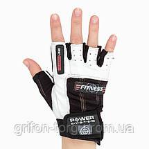 Перчатки для фитнеса и тяжелой атлетики Power System Fitness PS-2300 L Black/White, фото 3