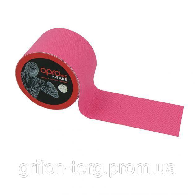 Кинезиологический тейп OPROtec Kinesiology Tape TEC57543 розовый 5cм*5м