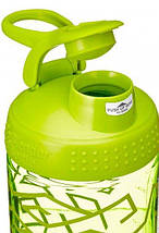 Спортивная бутылка-шейкер BlenderBottle SportMixer Signature Sleek GREEN ZEN GALA 820мл (ORIGINAL), фото 3