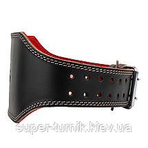 Пояс для тяжелой атлетики Power System Elite  PS-3030 S Black/Red, фото 3