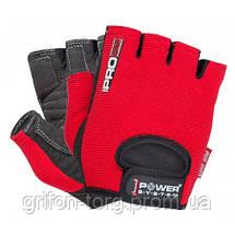 Перчатки для фитнеса и тяжелой атлетики Power System Pro Grip PS-2250 S Red, фото 2