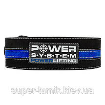Пояс для пауэрлифтинга Power System Power Lifting PS-3800 M Black/Blue, фото 2