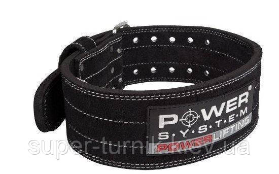 Пояс для пауэрлифтинга Power System Power Lifting PS-3800 XXL Black, фото 2