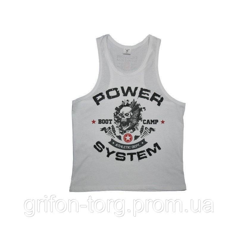 Майка для фитнеса и бодибилдинга Power System PS-8000 Boot Camp White L