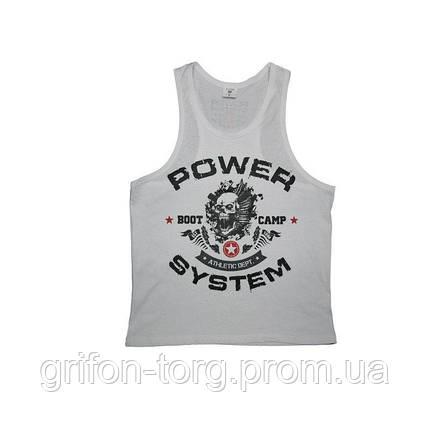 Майка для фитнеса и бодибилдинга Power System PS-8000 Boot Camp White L, фото 2