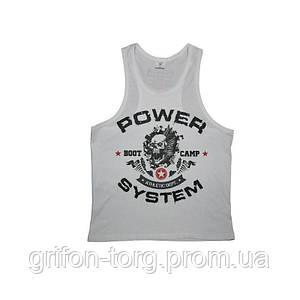 Майка для фітнесу та бодібілдингу Power System PS-8000 Boot Camp L White