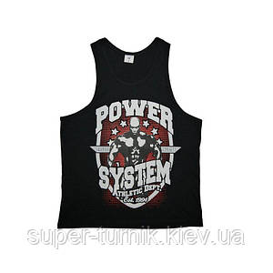 Майка для фітнесу та бодібілдингу Power System PS-8001 Elite Squad Black XL