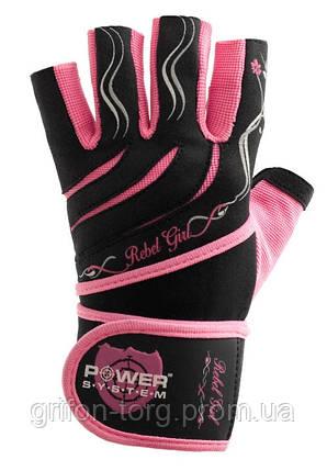 Перчатки для фитнеса и тяжелой атлетики Power System Rebel Girl PS-2720 XS Pink, фото 2
