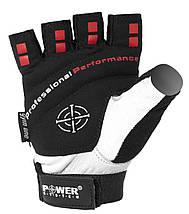 Перчатки для фитнеса и тяжелой атлетики Power System Flex Pro PS-2650 L White, фото 2