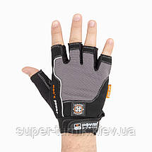 Перчатки для фитнеса и тяжелой атлетики Power System Man's Power PS-2580 XXL Black/Grey, фото 2