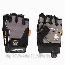 Перчатки для фитнеса и тяжелой атлетики Power System Man's Power PS-2580 XXL Black/Grey, фото 3