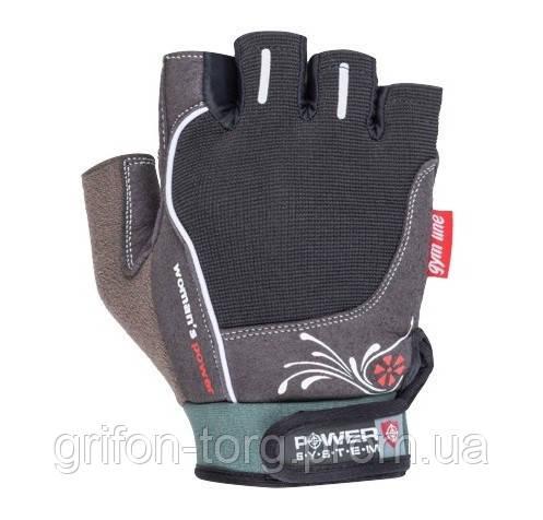Перчатки для фитнеса и тяжелой атлетики Power System Woman's Power PS-2570 L Black
