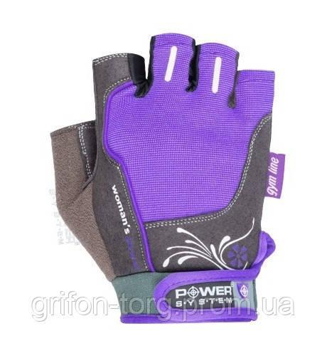 Перчатки для фитнеса и тяжелой атлетики Power System Woman's Power PS-2570 L Purple