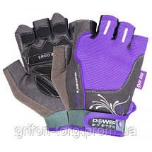 Перчатки для фитнеса и тяжелой атлетики Power System Woman's Power PS-2570 L Purple, фото 3