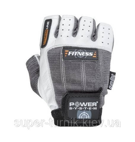 Перчатки для фитнеса и тяжелой атлетики Power System Fitness PS-2300 M Grey/White