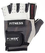 Перчатки для фитнеса и тяжелой атлетики Power System Fitness PS-2300 M Grey/White, фото 3