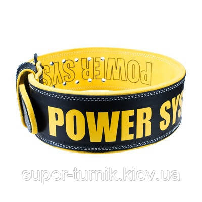 Пояс для тяжелой атлетики Power System Beast PS-3830 L Black/Yellow, фото 2